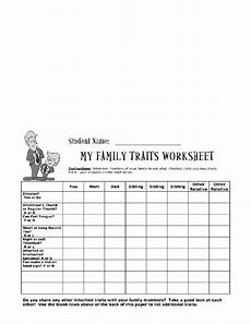 inherited traits worksheets reviewed by teachers