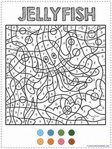 color by number animal worksheets 16069 16 best images about jellyfish theme on letter j summer time and animal coloring pages