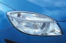 skoda fabia scheinwerfer skoda fabia ii front headlights covers milotec