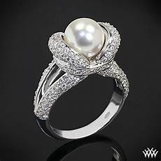 quot gaia quot pearl and diamond ring 1535