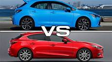 2019 toyota corolla hatchback vs 2018 mazda 3 technical