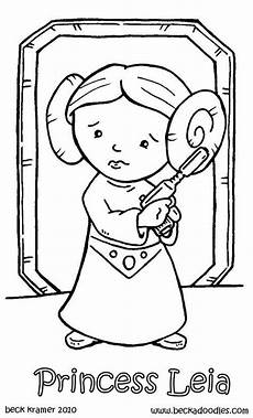 coloring pages princess leia coloriage wars