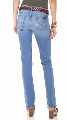 lyst 7 for all mankind kimmie leg in blue