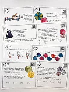 compound probability worksheets 7th grade 6017 probability of simple and compound events task cards math classroom 7th grade math 7th