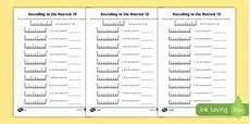 rounding worksheets twinkl rounding to 10 differentiated worksheet worksheet pack