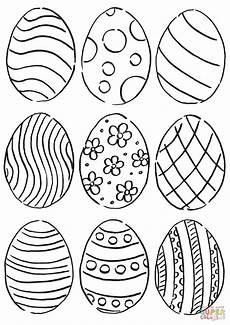 easter eggs pattern coloring page free printable
