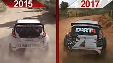 sbs comparison dirt rally 2015 vs dirt 4 early