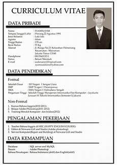 contoh curriculum vitae bahasa indonesia untuk mahasiswa cv nabila