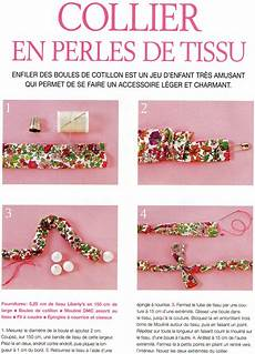Comment Fabriquer Un Collier En Perles De Tissu En 4