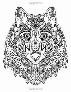 awesome animals a stress management coloring book for adults adult coloring books mandala