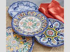 Del Sol Melamine Dinner Plate   Mixed   Pottery Barn