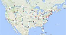 Map And Route - researcher maps out epic u s road trip hitting all 50