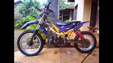 Modif Supermoto by Modifikasi Motor Trail Motorplus Modif Trail Yamaha