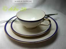 rosenthal 1 gedeck tasse teller goldrand kobaltblau dekor