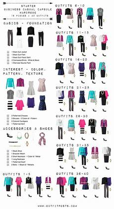 capsule wardrobe starter business casual capsule wardrobe checklist
