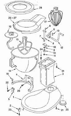 Kitchenaid Parts Order by Kitchenaid Kpm50 Parts List And Diagram