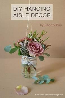diy hanging aisle decor alternative bouquet by knot pop