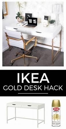 ikea hacks schreibtisch white and gold desk ikea hack money can buy lipstick
