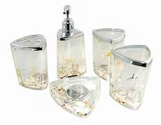 decorative beach seashell starfish ocean style acrylic bathroom accessory set ebay