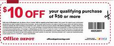 Office Depot Coupons Discounts by Office Depot 10 50 Printable Coupon