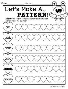 math pattern worksheet for kindergarten 337 february printables kindergarten literacy and math kindergarten literacy math patterns