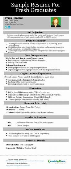 fresher cv format fresher resume sle exle