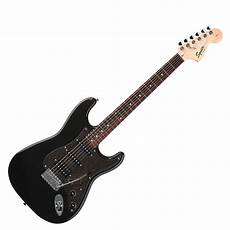 squier stratocaster by fender squier by fender affinity stratocaster hss montego black at gear4music