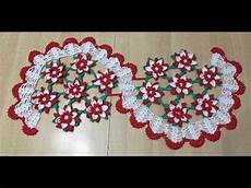 tuto chemin de table fleur au crochet sp 233 cial gaucher 1 2