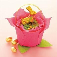 Ostergeschenke Basteln Für Eltern - osterkorb aus kaffeefiltern selber machen ostergeschenk