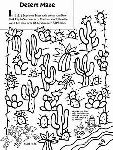 desert animals coloring pages printable 16950 desert maze coloring page fast finisher csite texans and deserts