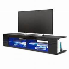 tv lowboard schwarz matt tv board lowboard korpus in schwarz matt fronten in
