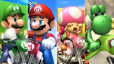 Mario Kart Wii All Characters Losing Animations