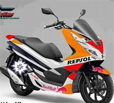 Modifikasi Stiker Pcx 2018 by Jual Stiker Honda Pcx Repsol 2018 Di Lapak