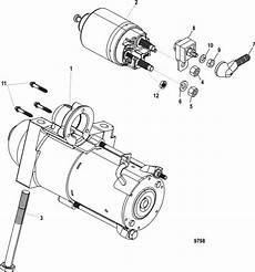 Mercruiser 5 7l Carburetor Alpha Bravo Starter Motor Parts