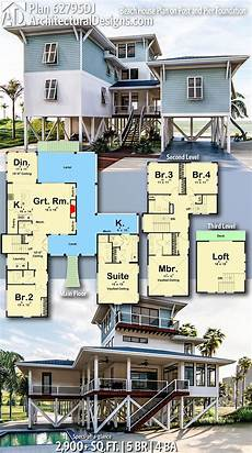 beach house plans on piers plan 62795dj beach house plan on post and pier foundation