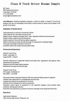 resume objective exles truck driver truck driver