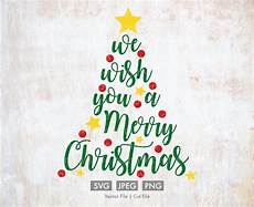 we wish you a merry christmas calligraphy svg cut etsy