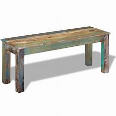 banc bois massif bancs banc bois massif de recuperation 110 x 35 x 45 cm