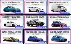 Fh4 Forza Horizon 4 Car List Edition Horizon Forza