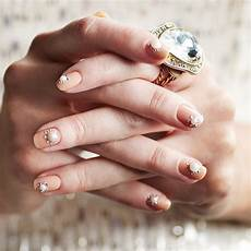 bridal rhinestone nail art design popsugar beauty