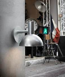 industrial style outdoor ip54 wall light black and galvanised
