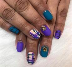 chic plaid nail designs to try beautiful trends today