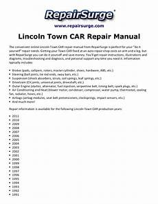 auto repair manual online 2008 lincoln town car free book repair manuals lincoln town car repair manual 1990 2011