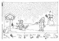 Vorschule Malvorlagen Pdf Winter Schlitten Schneemann Schneemann Lernen
