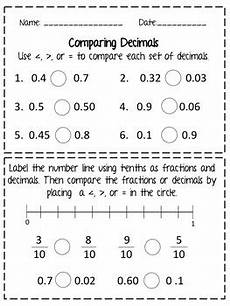 decimal hundredths worksheet 7154 comparing decimals tenths and hundredths worksheet by educating in color