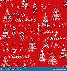 merry christmas and christmas tree seamless pattern handdrawn stock vector illustration of