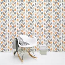 Grey And Orange Wallpaper Uk galerie unplugged abstract leaf pattern retro geometric