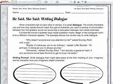 dialogue writing worksheets for grade 5 22945 he said she said writing dialogue worksheet for 5th 6th grade lesson planet