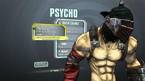 Psycho Skins Borderlands 2