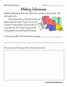 3rd grade reading comprehension worksheets inference